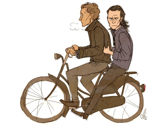 "wachtelspinat:  ""i despise this odd vehicle, mortal."" some loki and the loon fanart yy"
