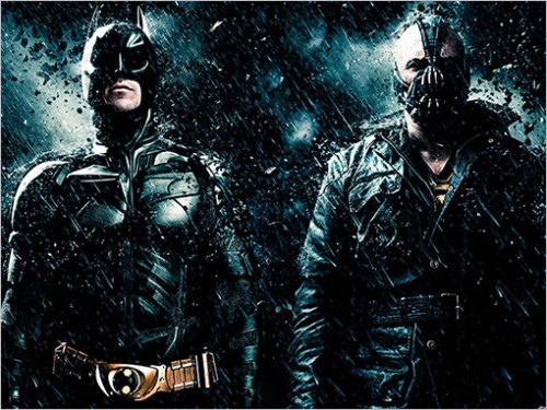 "Here are links to my reviews of ""The Dark Knight"" and ""The Dark Knight Rises."""