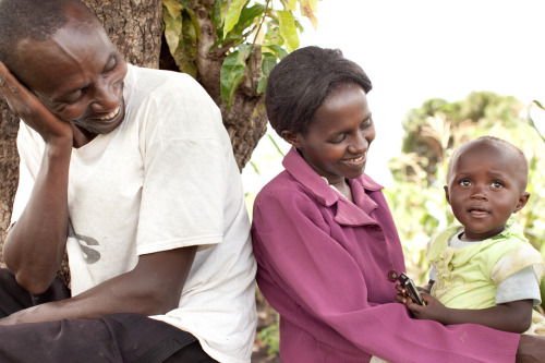 Irrigation pumps help rural farmers Johnson and Lucy to grow more food, earn and income, and provide for their daughter Mariam. Learn more at theadventureproject.org.