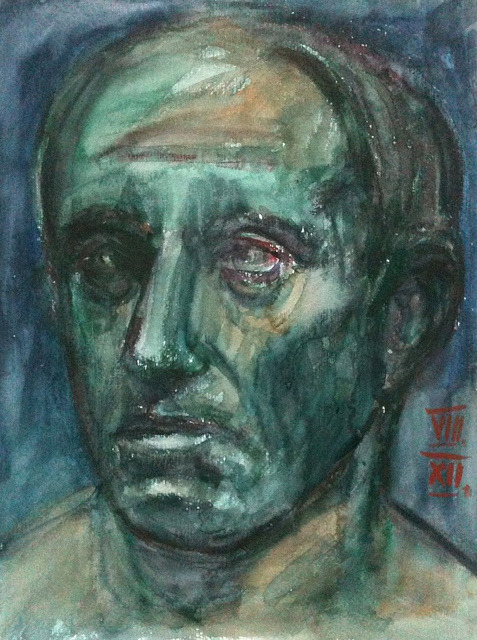 head (after a Roman bust), watercolor 36x48cm, August 2012 @_blacha_ on Flickr.for: http://afteramotive.blogspot.de/