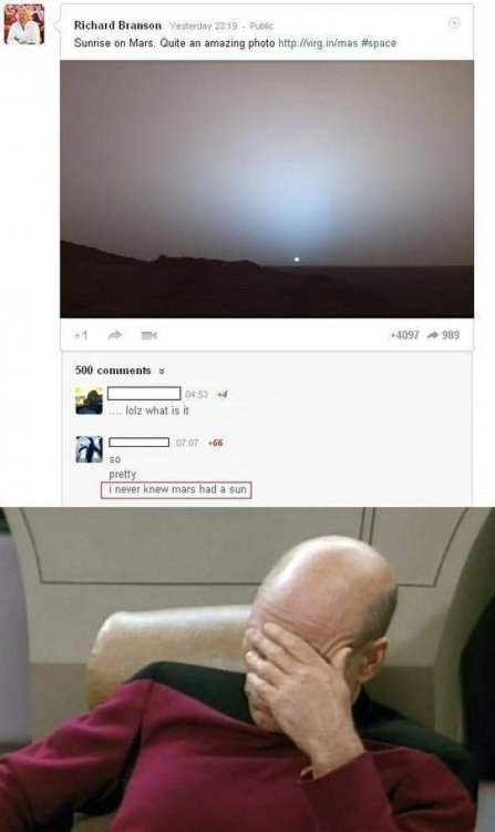 "Person Didn't Know Mars ""Had a Sun"" Prepare to have your mind blown even more random internet person."