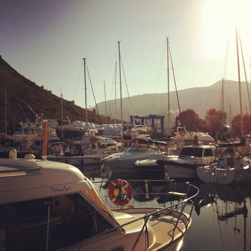 Cala Galera port in Argentario. The view from my boat at sunset. La vista del porto al tramonto dalla mia barca. Cala Galera, Argentario. (Scattata con Instagram)