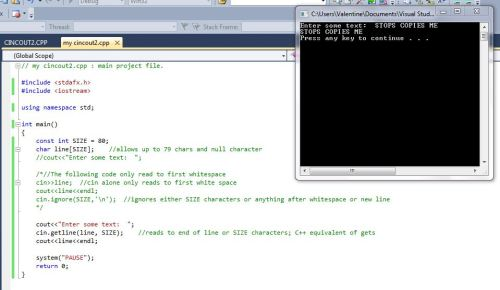 Being productive in my C++ class.