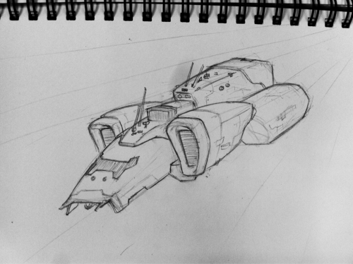 Lunch break doodle- more space ship scribbles, just killing some time and coming up with ideas.