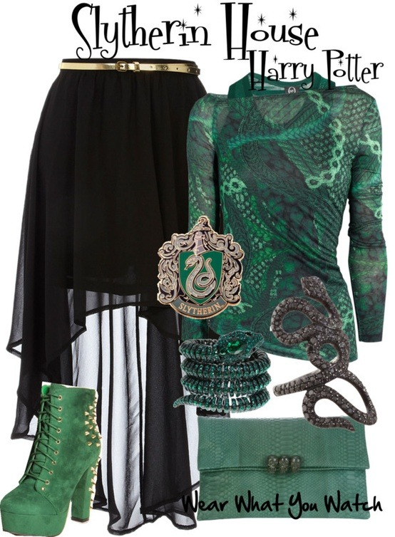 Slytherin House at Hogwarts from the Harry Potter franchise - For information on purchasing items from the set above please visit my Polyvore account.