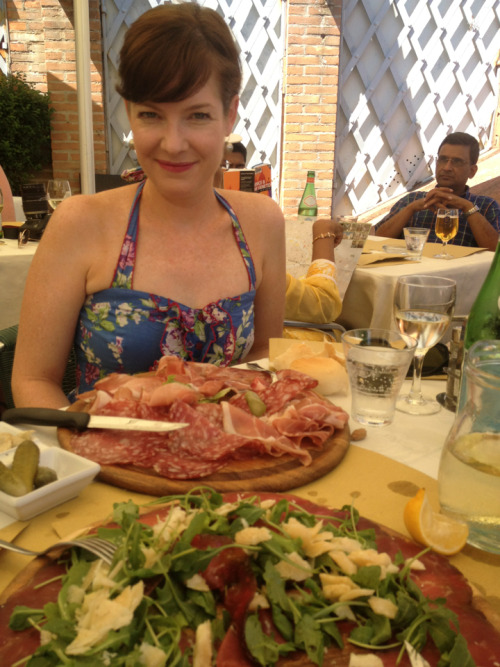 Hot lunch by the Grand Canal, Venice…antipasti from heaven