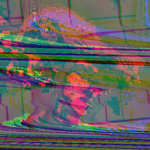 Melt Face Self portrait glitch experiment. I love glitching people face, it always give nice expression or had a strange feel to the person.