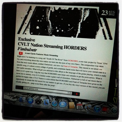 Horders - Fimbulvetr LP streaming at Cvlt Nation http://www.cvltnation.com/exclusive-cvlt-nation-streaming-horders-fimbulvetr/ #horders  #giveup #feastoftentacles #cvltnation (Taken with Instagram)