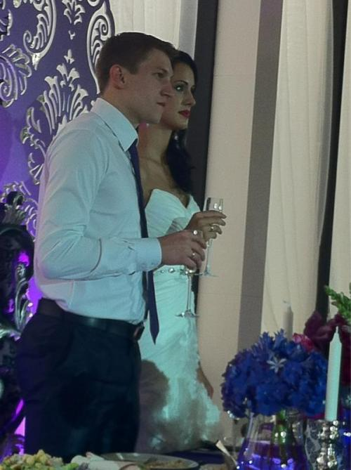 wedding celebration of the gorgeous Nataliya Goncharova (Obmochaeva) and olympic gold medalist Alexey Obmochaev