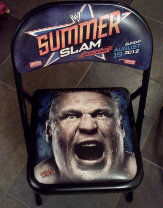 Brock Lesnar's face on a SummerSlam chair? Find out how it could be yours.