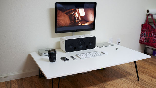 The Low, White Workspace
