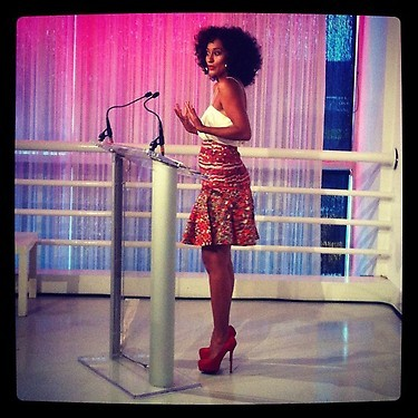 Tracee knows what she's got and how to work it!