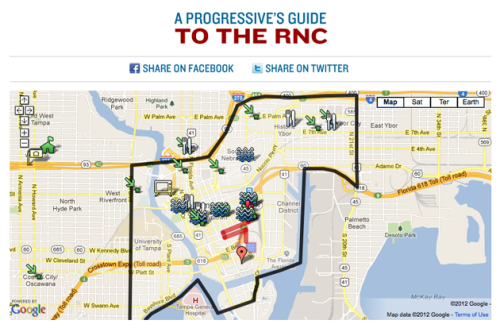 The Progressive's Guide to the Republican National Convention Heading down to Tampa to raise some hell? Knowledge it up.