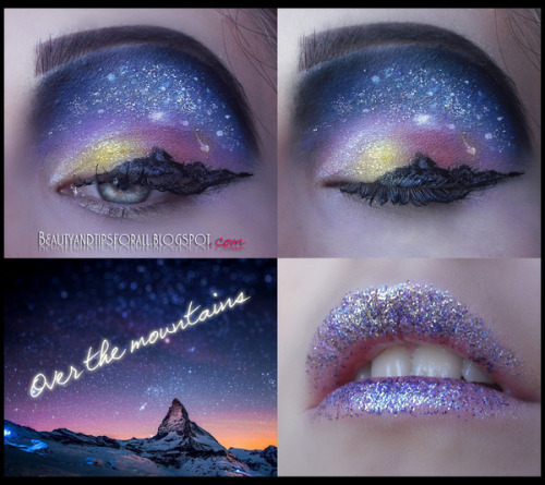beautylish:  Alexandra M.'s first attempt at landscape eye art - we think she did amazing!