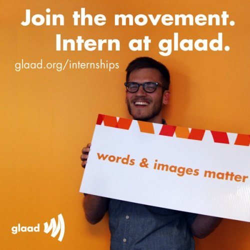 glaad:  Are you a college student interested in the LGBT movement? Intern at GLAAD's New York City or Los Angeles offices!http://glaad.org/internships  (Thanks Peter for your amazing work this summer!)  We'd love to have a shep689er at GLAAD :)