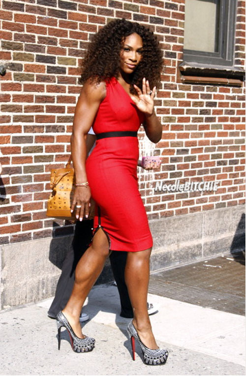 Serena Williams Looks Like A Million Bucks For Letterman