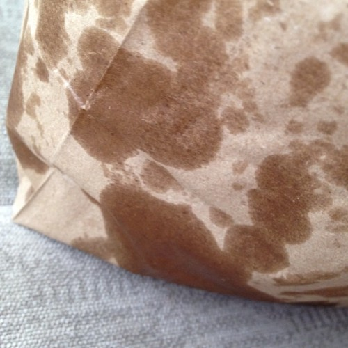 Five Guys bag without my hand in it. (Taken with Instagram)
