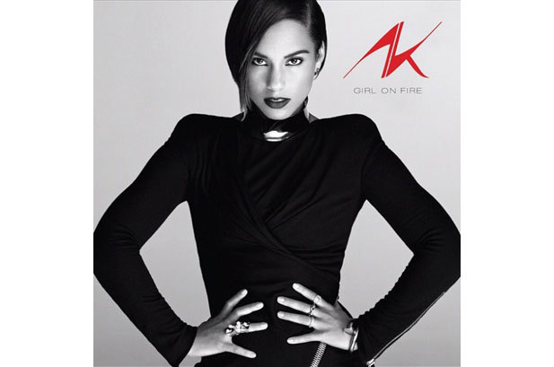 "ALICIA KEYS' 'GIRL ON FIRE' album cover! To be released November 27th.  ""'Girl On Fire' is about finding your voice, about being unleashed and about trusting your instincts and trusting yourself,"" Keys says via press release. ""I can't wait to share it with the world.""  - A. Keys"