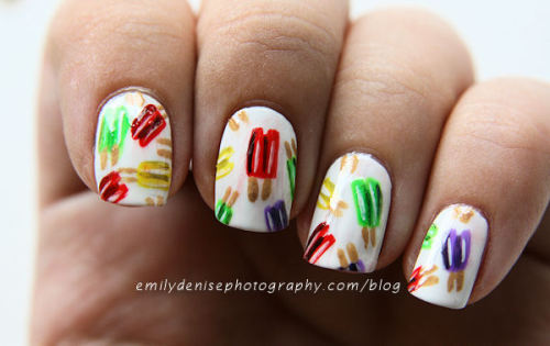 Yummy popsicle print nails! Don't you just wanna LICK these? Head over to my blog to read more.