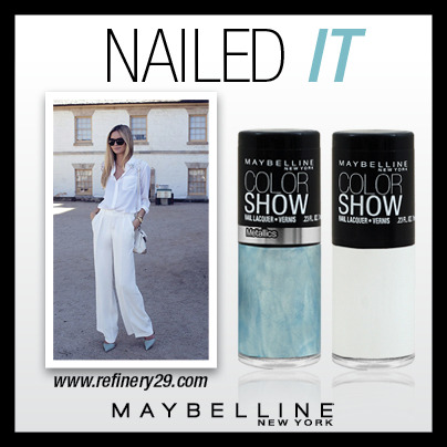 All in white with a touch of powder blue, its got us craving a mani refresh! #NailedIT #ColorShowDiscover all of our colours here - http://bit.ly/Q3kLYq