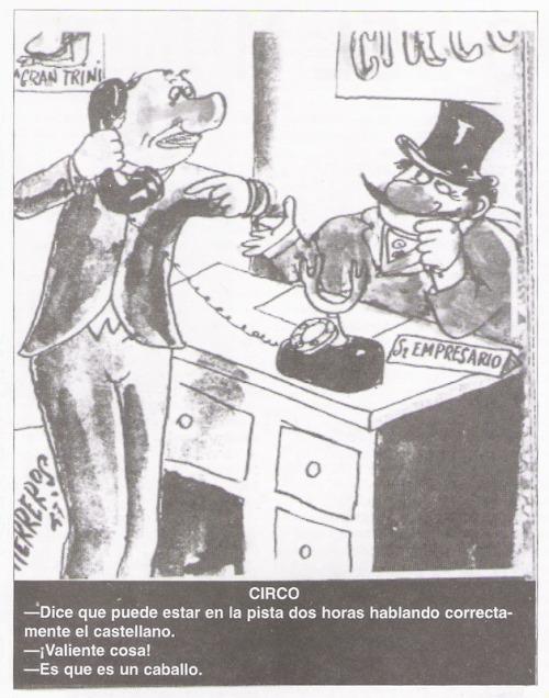 """Enrique Herreros, para la Revista """"La Codorniz"""" (publicada entre 1941 y 1978)"""