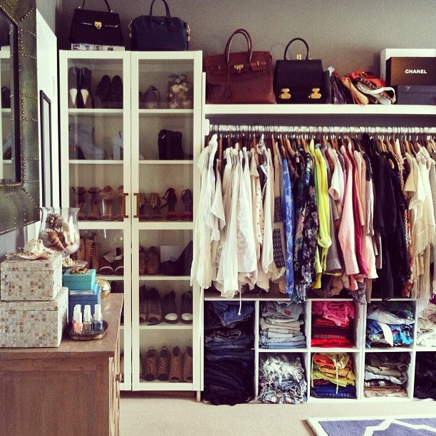My dream closet! Something in every color.