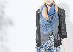 Andean Dream Scarf, Distressed Leather Cardigan, Sol Del Mar Dress, Burning Torch Fall 2012 Lookbook