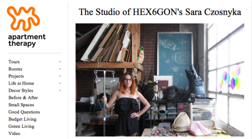 HEX6AGON + myself got featured on ApartmentTherapy.