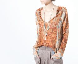 Moray Blouse, Trekker Pant, Athena Necklace, Burning Torch Fall 2012 Lookbook