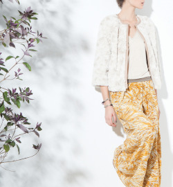 Ermine Jacket, Layers Top, Sol Del Mar Pant, Burning Torch Fall 2012 Lookbook