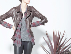 Distressed Leather Jacket, Trail Top, Indio Top, Ponti Leggings, Burning Torch Fall 2012 Lookbook