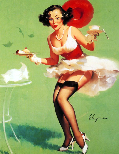 """Fresh Breeze"" by Gil Elvgren, 1960"