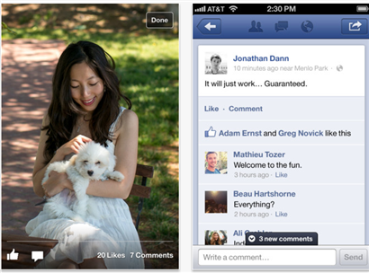Facebook iPhone and iPad app update speeds everything up (Photo: Facebook) The Facebook for iOS just got updated, and odds are that you'll be quite happy with it. While things barely look different, everything is faster. Read the complete story.