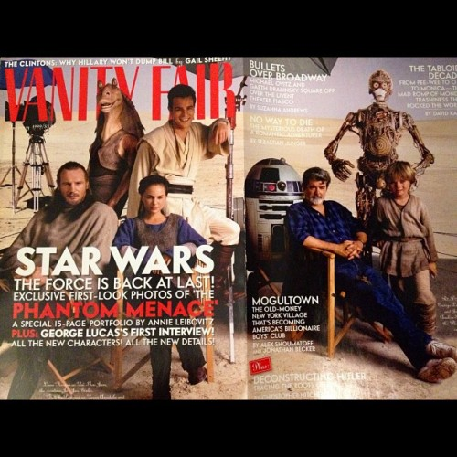 Happy #StarWarsCVI! Here's the Phantom Menace cast on our Feb. 1999 cover. #classiccovers  (Taken with Instagram at Vanity Fair Magazine)