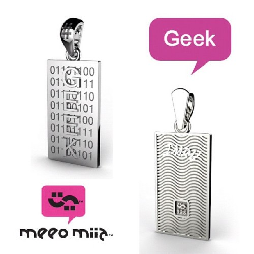For the Geek lovers :) #jewelry #sterling #silver #new #designs #gift #necklace #trends #gift #geek  (Taken with Instagram)