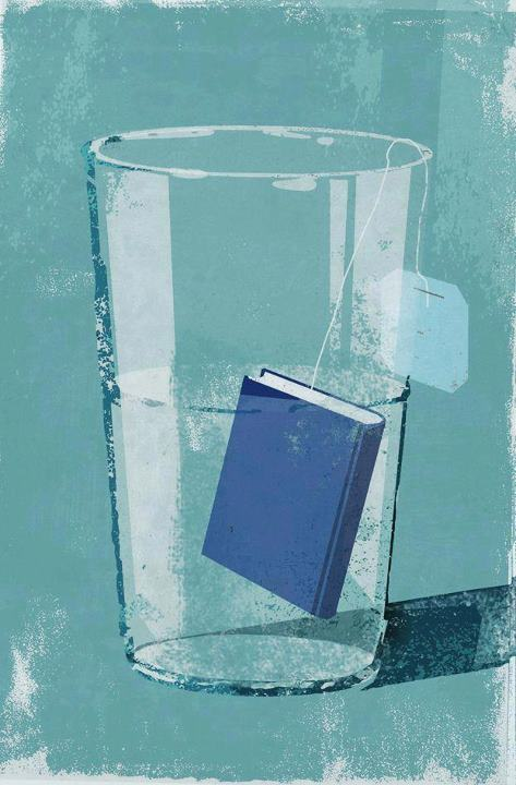 Reading refreshing: tea-book / Lectura refrescante : té-libro (ilustración de Eva Vázquez)