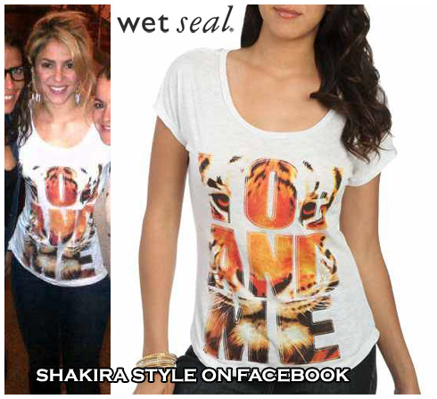 WetSeal You And Me Tiger Face Tee$11.99 visit & like Shakira style on Facebook