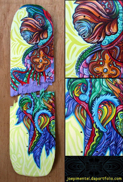Acrylic on skateboard 2012