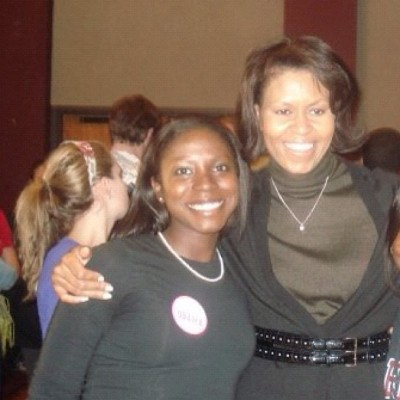 #tbt Michelle Obama and myself…just months before she became first lady! #MichelleObama #Obama #me  (Taken with Instagram)