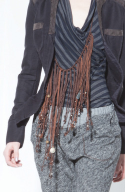 Trekker Jacket, Raya Top, Indio Pant, Quipu Necklace, Burning Torch Fall 2012 Lookbook