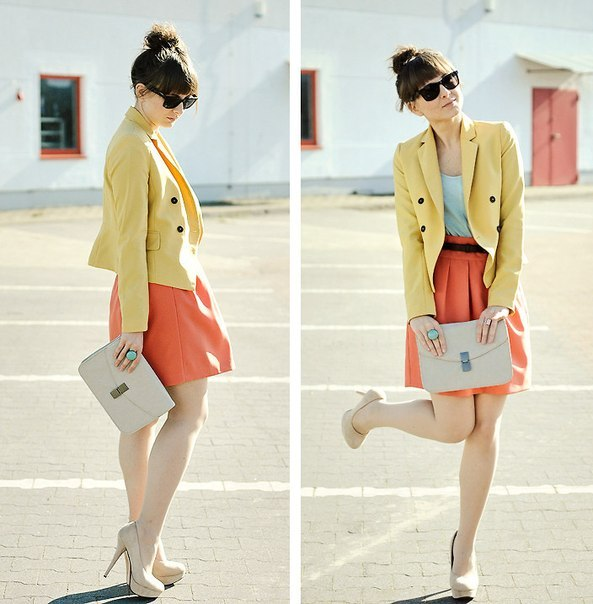 Such summery colors! (via FashiOnly: Looks)