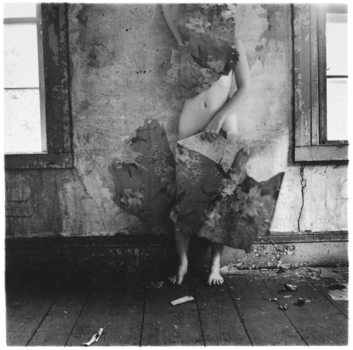 "Francesca Woodman jumped to her death from the window of a Lower East Side Manhattan loft on January 19th 1981. She was 22 years old when she died.  This was her last Journal entry: This action that I foresee has nothing to do with melodrama. It is that life as lived by me now is a series of exceptions … I was (am?) not unique but special. This is why I was an artist … I was inventing a language for people to see the everyday things that I also see … and show them something different … Nothing to do with not being able ""to take it"" in the big city or w/ self doubt or because my heart is gone. And not to teach people a lesson. Simply the other side. Photograph: Space2 (1976)"