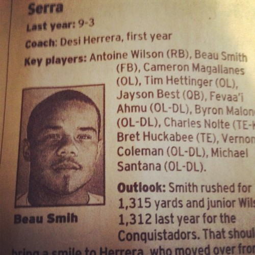 FOOTBALL SEASON HERE SO IM GOING IN ON #TBT my niggas had stats. @bopesci @bmalone1hundred @santana7906 #SANDIEGOUNIONTRIBUNE (Taken with Instagram)