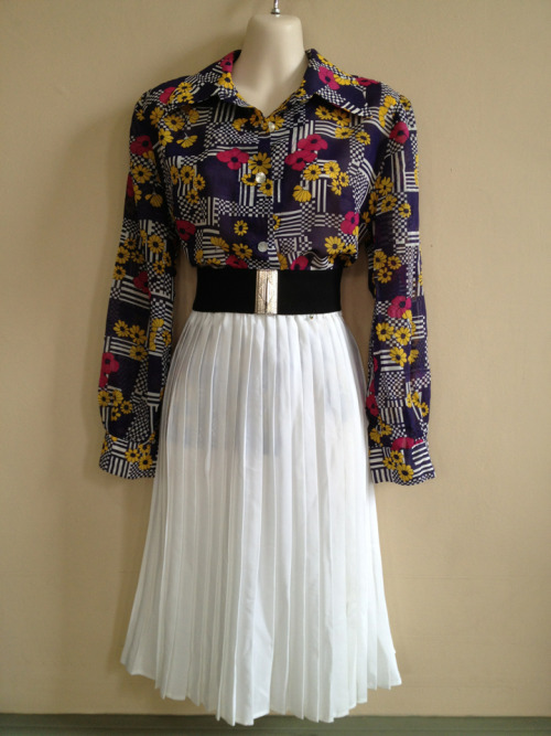 Shirt and pleated skirt 2 for $70
