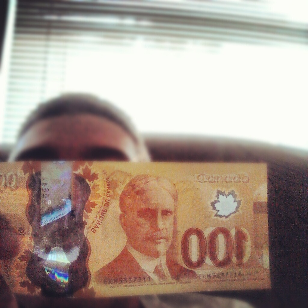 Canadian currency or Monopoly money?