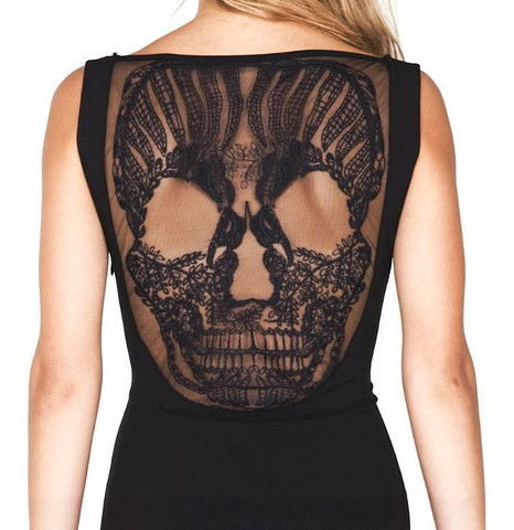 moshita:  skull dress noir premonitiondesigns