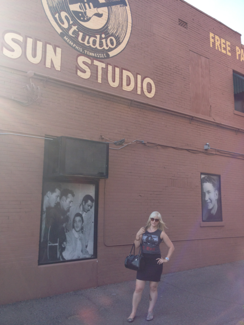 At Sun Studio, the birthplace of rock and roll. I look pleased, don't I? I'm actually having a good time though, haha.