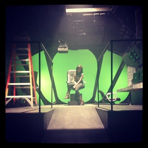 justwankyy:  A glimpse of Naya's music video set that her makeup artist tweeted