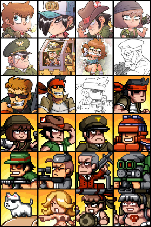 We prepared a package of 24 profile pictures using some artwork from Mercenary Kings. Feel free to use them for your Facebook or Twitter profile! DOWNLOAD PROFILE PICS HERE!  +still need to get to that goal ! http://www.kickstarter.com/projects/322438897/mercenary-kings