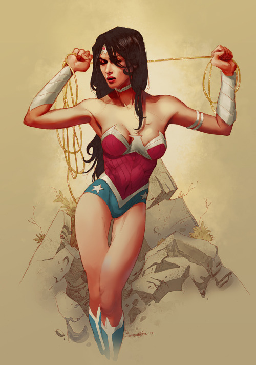 xombiedirge:  Wonder Woman New 52 by Barnaby Bagenda  My the goddess bless us with more Wonder Woman